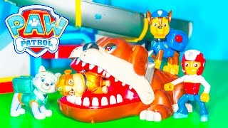 PAW PATROL Nickelodeon Paw Patrol Biting Dog Game a Paw Patrol Video Parody