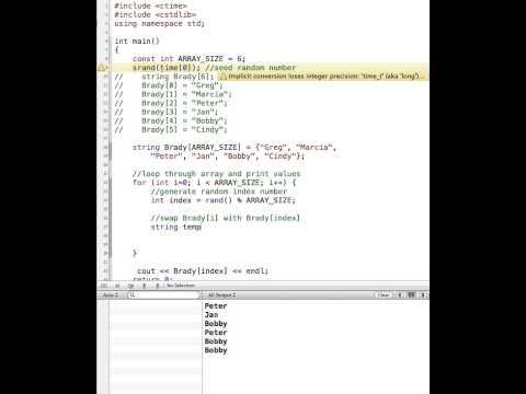 C++ Randomizing an Array - YouTube