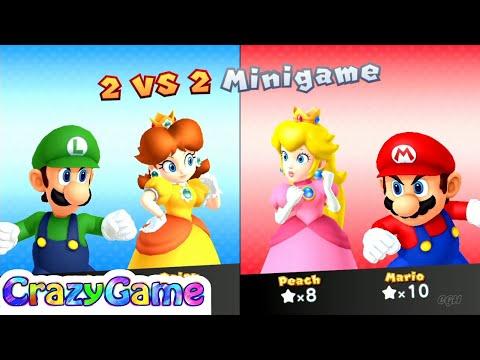 Mario Party 10 Mario Party - Mario vs Peach vs Daisy vs Luigi Gameplay (Chaos Castle)