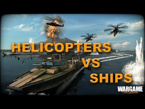 Wargame: Red Dragon - Helicopter vs Ships - Multiplayer Gameplay Naval Sea
