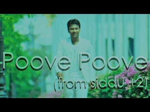 Poove Poove (Lyric Video) | Siddu +2 |  Shanthnu | Dharan Kumar | Yuvan Shankar Raja, Chinmayee