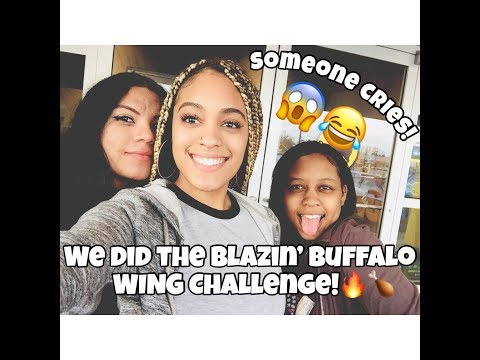 We Did The Blazin' Buffalo Wing Challenge! (SOMEONE CRIES)