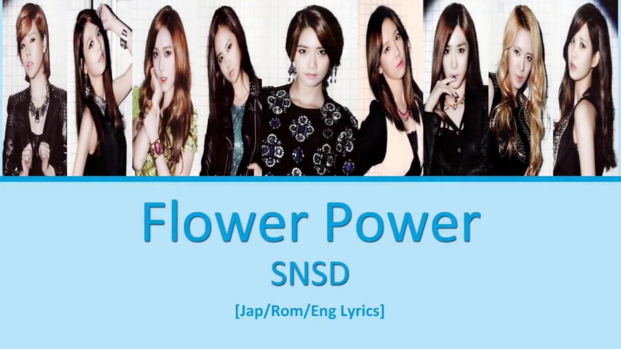 SNSD Girls' Generation - Flower Power lyrics   cjklyrics