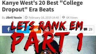 "Overview: HNHH's best ""College Dropout"" era Kanye beats"