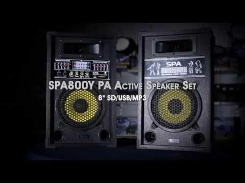 SPA800Y PA Active Speaker Set 8