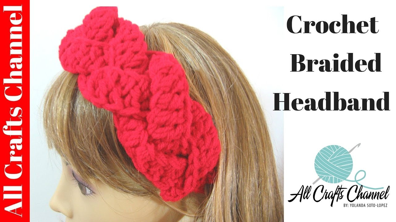 Free Crochet Braided Ear Warmer Pattern : How to Crochet braided headband FunnyCat.TV