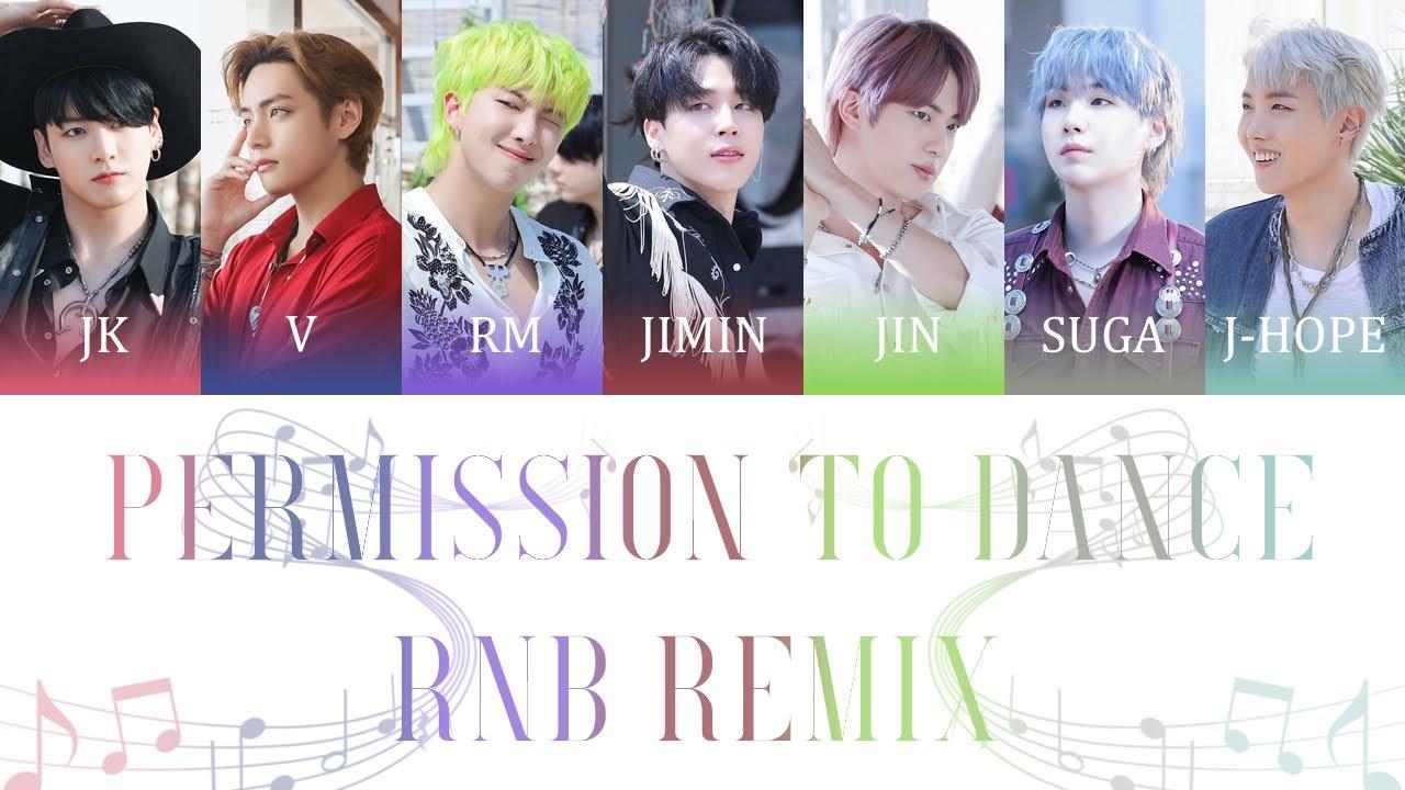 BTS (방탄소년단) - Permission To Dance (R&B Remix) Color Coded Lyrics