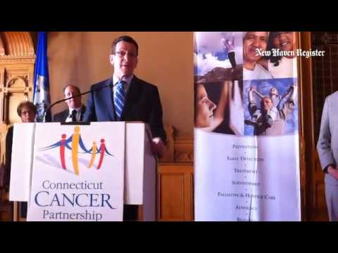#Cancer fight in #hartford #connecticut Gov. Malloy speaks to Connecticut Cancer Partnership advocat