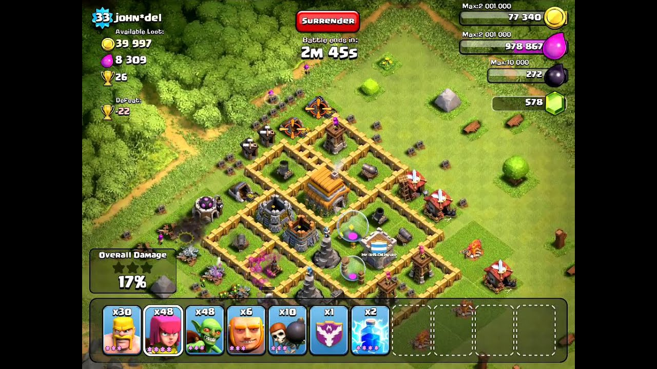 Clash of clans th7 farming walkthrough youtube