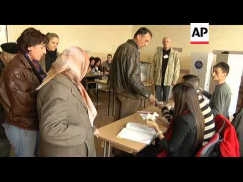 WRAP Firing at peacekeepers' house, Kosovo Serb sot, voting, polls close