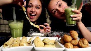 Jalapeno Poppers, Fried Mushrooms, and Mozzarella Sticks MUKBANG