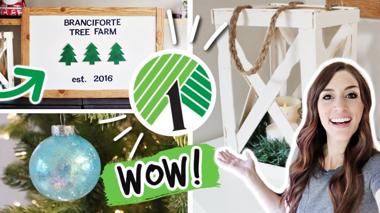 DOLLAR TREE Christmas DIYS that look expensive *NEW 2019* - YouTube