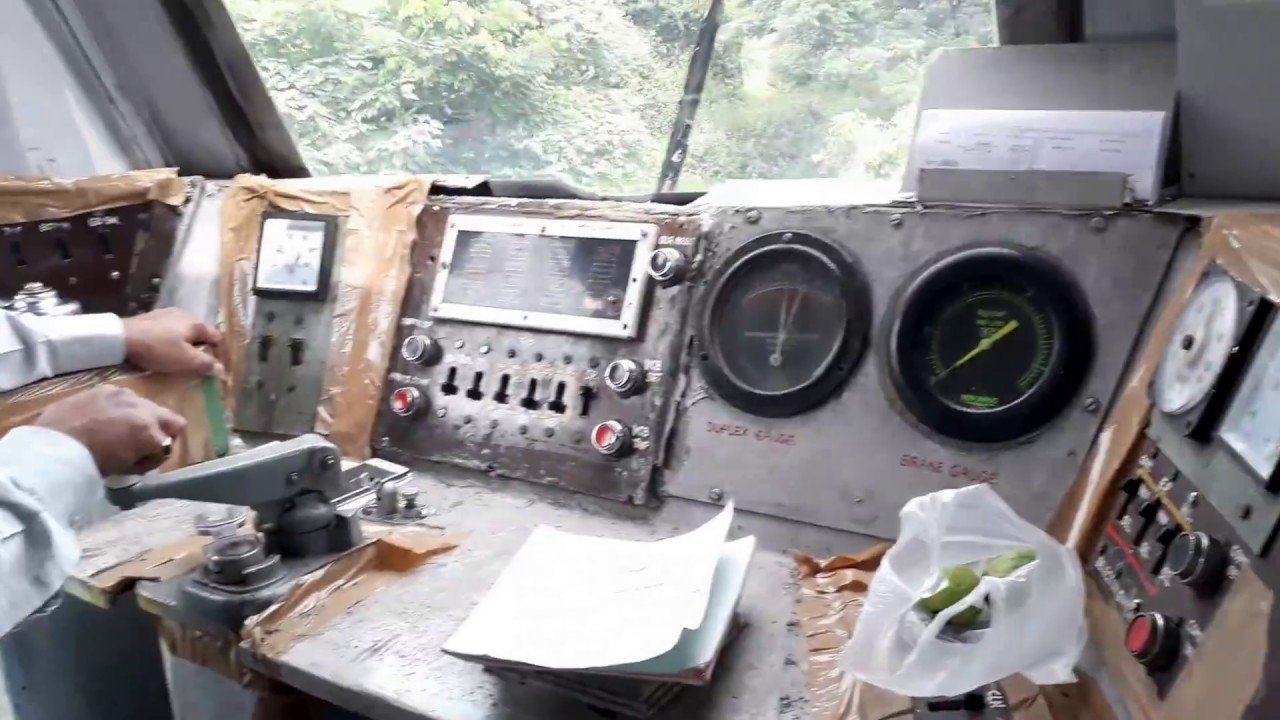 Inside the Engine of Local Train l Indian Railways I Real time driving and  control l Locomotive 2019