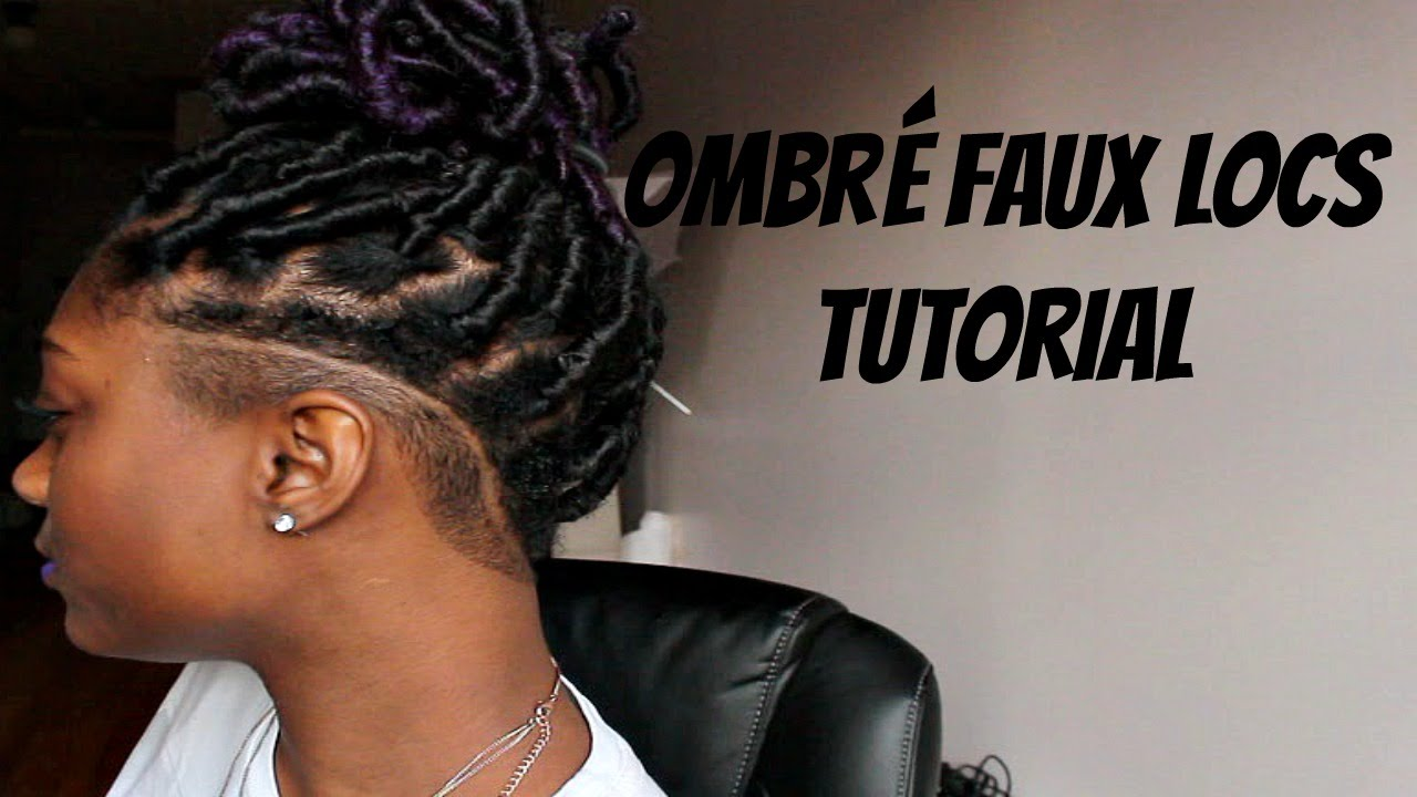 DIY Ombre Faux Locs Tutorial W Undercut YouTube
