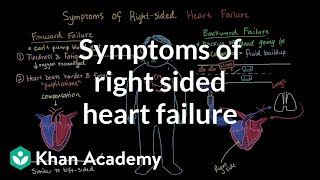 Symptoms of right sided heart failure | Circulatory System and Disease | NCLEX-RN | Khan Academy