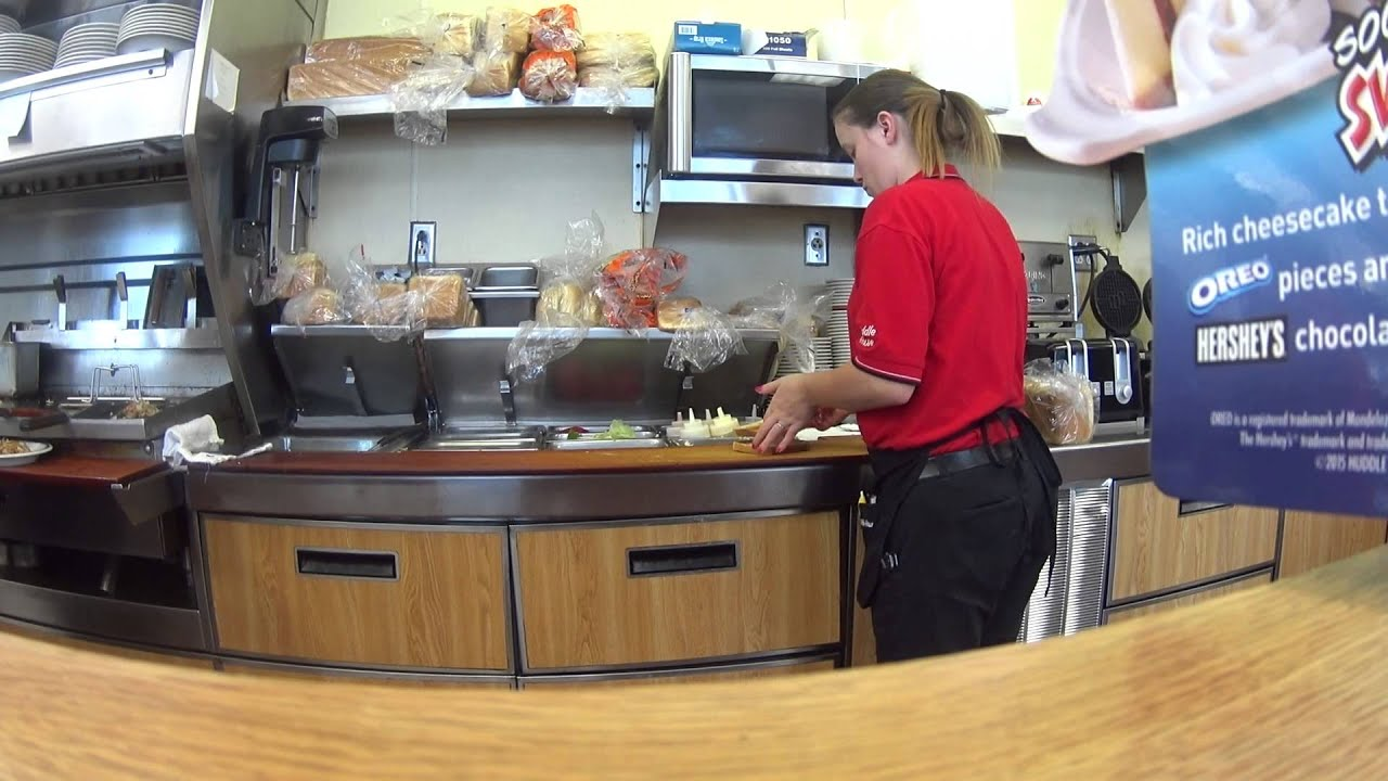 Huddle House Breakfast SONY Action Cam