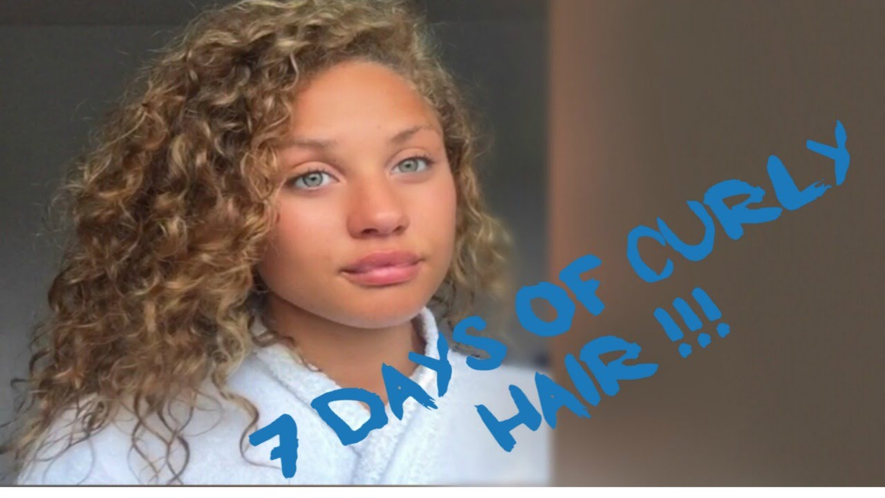 7 Days Of Curly Hair Preserving Curls And Protective Styling Youtube