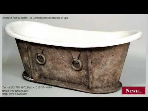 Art Deco Antique Bath Tub Continental Accessories for Sale