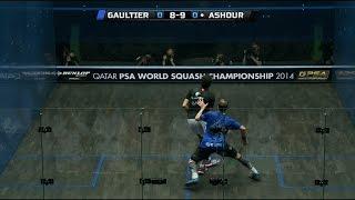 Squash: MegaRallies EP92 : Gaultier v Ashour :World Championship 2014