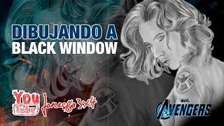 Dibujando a BLACK WINDOW (Viuda Negra ) MARVEL