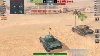 Wot Blitz - 50-TH  vs  KV2 😅