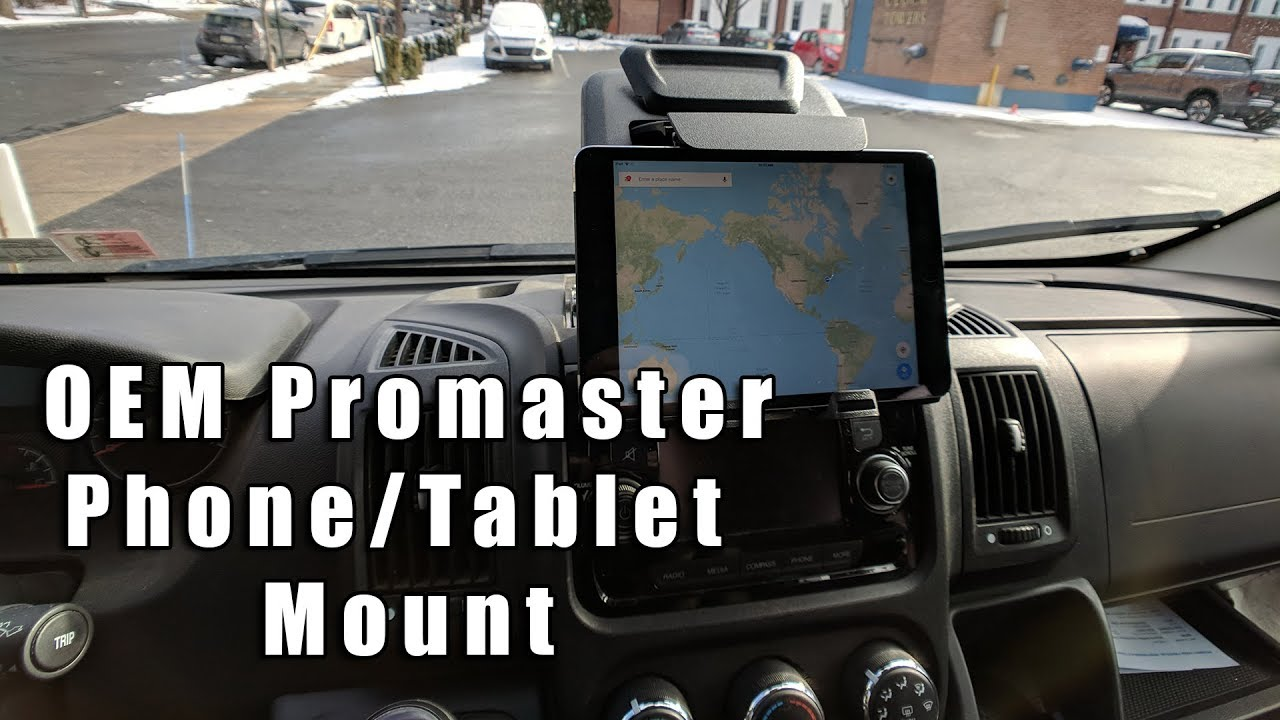 How to: Installing Fiat Tablet/Phone Holder in a Promaster