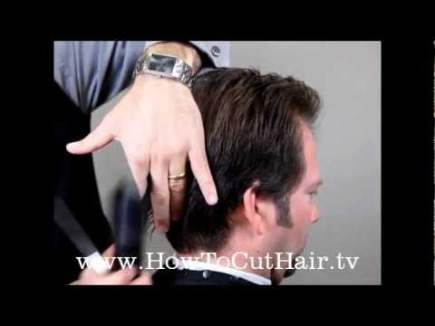 cut men's hair - scissor