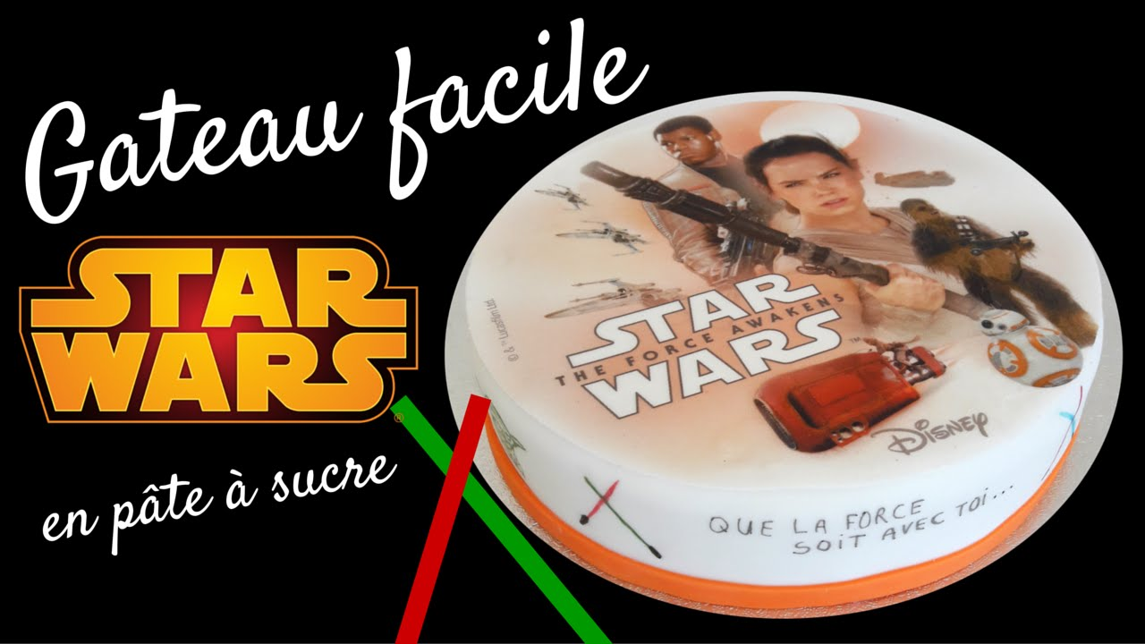 faire un gateau star wars 7 star wars cake gateau facile youtube. Black Bedroom Furniture Sets. Home Design Ideas