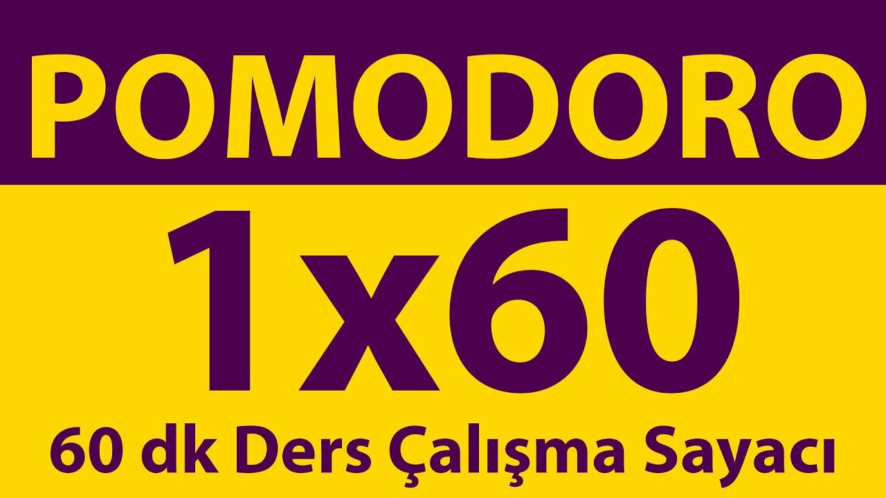 Pomodoro Tekniği | 60 Dakika Ders Çalışma Sayacı | Pomodoro Sayacı | Alarmlı | Müziksiz