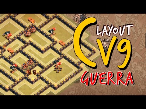 LAYOUT DE GUERRA P/ CV9 (2 DISPERSORES)   TH9 WAR BASE WITH 2 AIR SWEEPERS