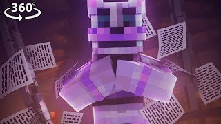 360° Five Nights At Freddy's - FUNTIME FREDDY VISION - Minecraft 360° Video