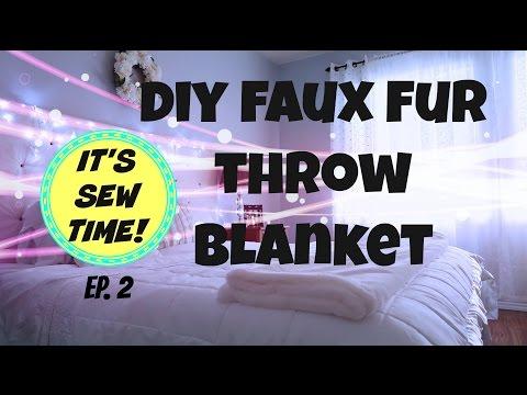 DIY FAUX FUR THROW BLANKET
