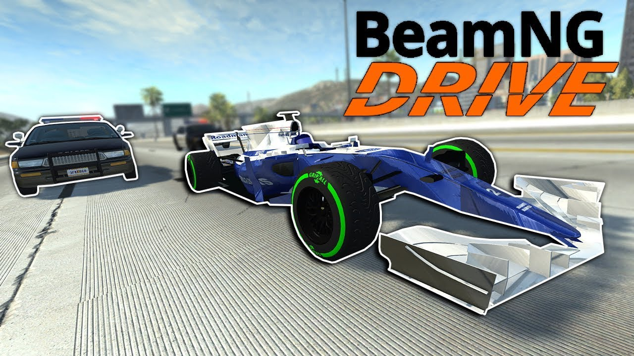 INSANE FORMULA 1 POLICE ESCAPE IN THE CITY! - BeamNG Drive Police Gameplay & Crashes