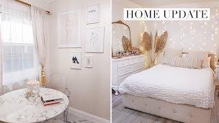 HOME UPDATE VLOG! DIY Art Gallery Wall, Decor Shopping | LA DIARIES #8