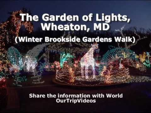 the garden of lights brookside gardens winter walk wheaton md us part 1 youtube - Christmas Lights Maryland