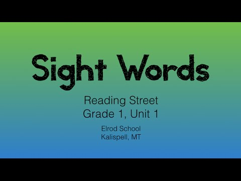Reading Street Grade 1, Unit 1 Sight Word Review
