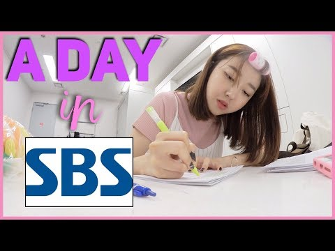 A DAY IN KOREAN BROADCASTING CHANNEL SBS || Sunnydahye