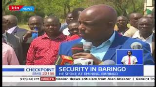 Senator Moi commits to advocating for insecurity in the country