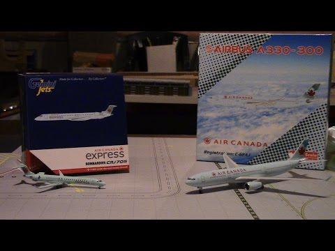 Air Canada Express CRJ705 Gemini Jets & Air Canada Airbus A330-300 Phoenix 1:400 Scale Model Reviews