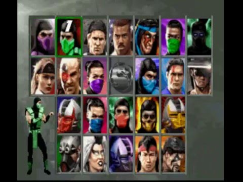 Ultimate Mortal Kombat 3 SNES Character Select