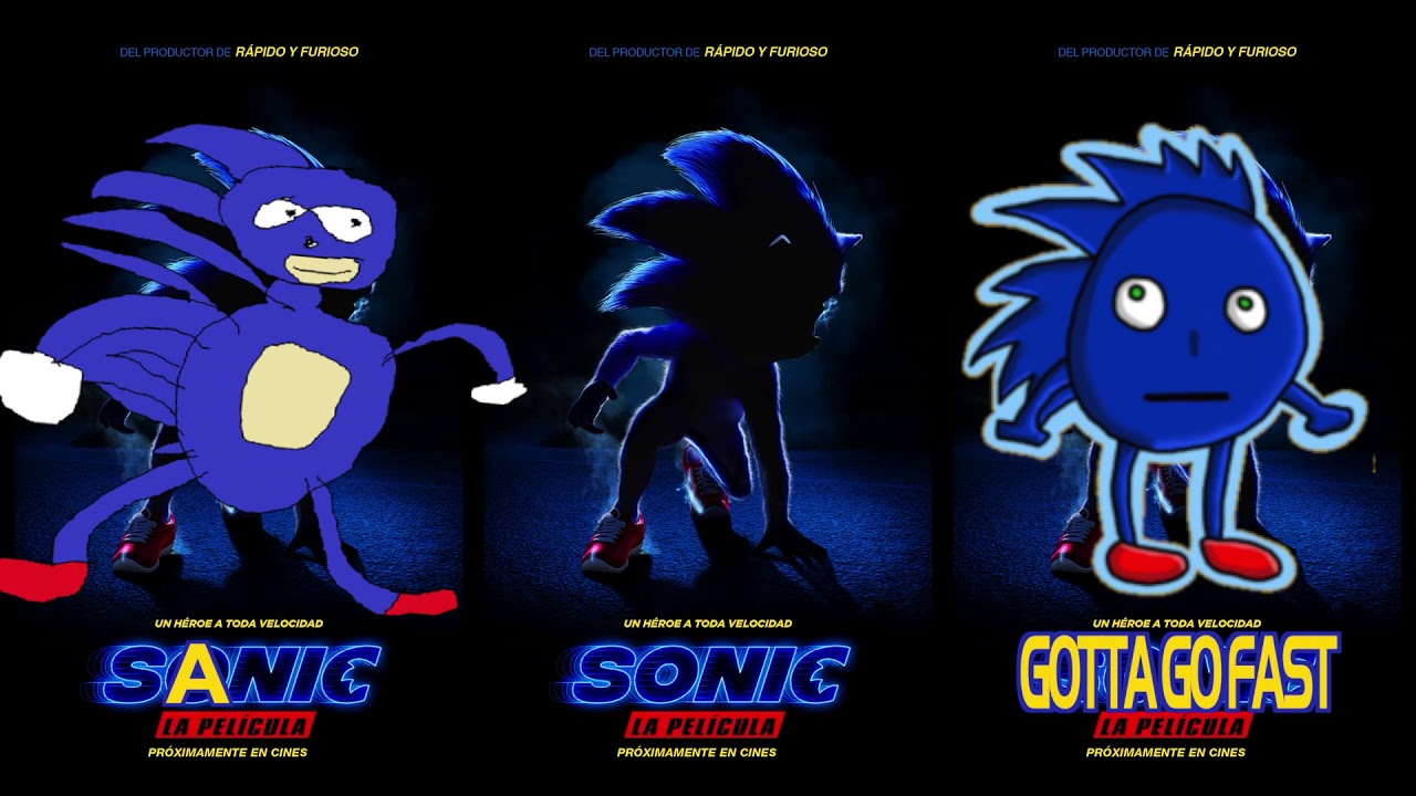 Sonic The Movie Vs Sanic Gotta Go Youtube