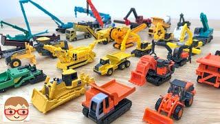 工事車両のトミカ!はたらくくるま!ショベルカー、ダンプトラック、クレーン車!工事車両集合!ブーブー