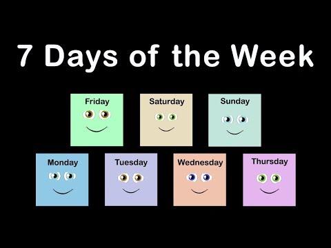 Days of the Week/Days of the Week Song/7 Days of the Week Song