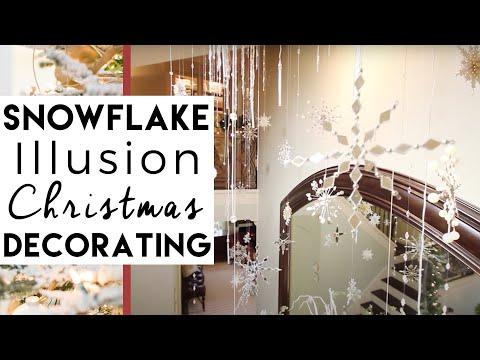 Falling Snowflake Illusion (Really Cool) | Christmas Decorating ideas