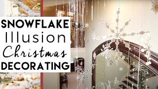 Falling Snowflake Illusion (Really Cool) | Christmas Decorating ideas