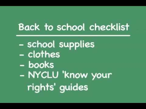 NYCLU Back to School Kit