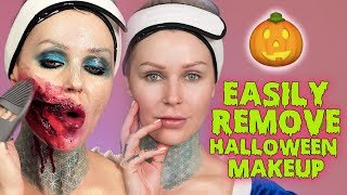 HOW TO EASILY REMOVE HALLOWEEN MAKEUP - Latex, Spirit Gum, Body Paint | KristenLeanneStyle