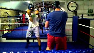 Hugo and Hugh Sparring - Boodles Boxing Ball 2011
