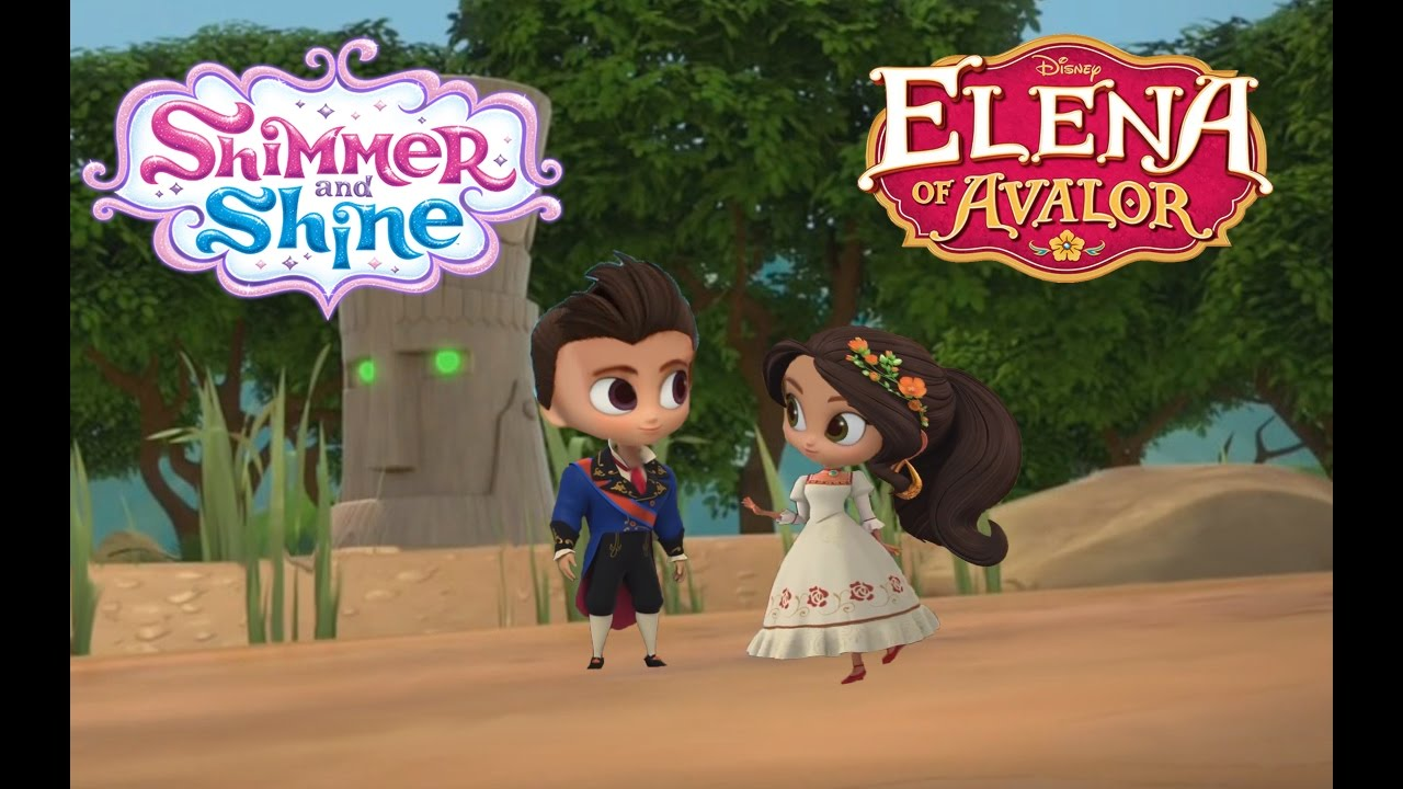 Shimmer And Shine Episode Disney Elena Of Avalor And Gabe