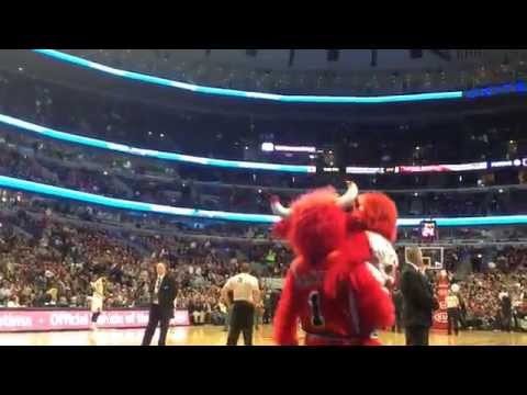 Signs and Dance April 3, 2015 Bulls game